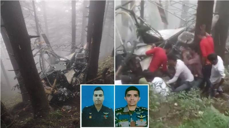 Two Indian army pilots killed in helicopter crash in occupied Kashmir