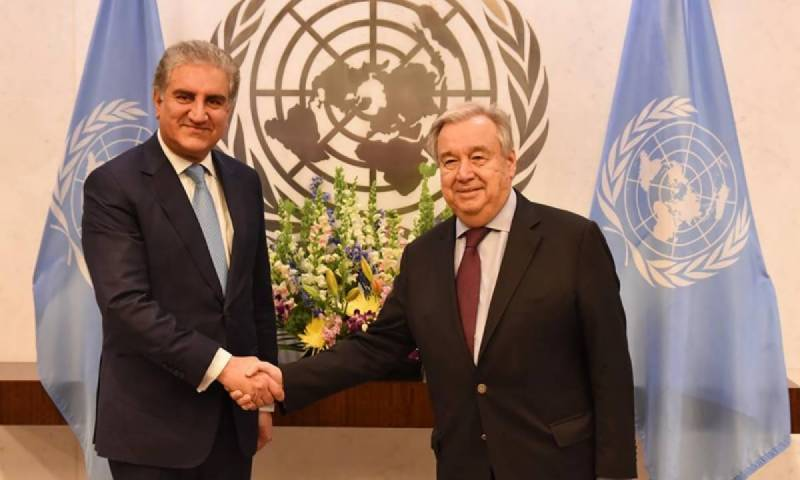 FM Qureshi apprises UN president, secretary general about human rights violations in IIOJK