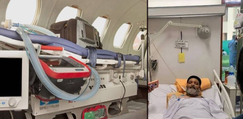 Umer Sharif flies to US today as air ambulance company issues travel details