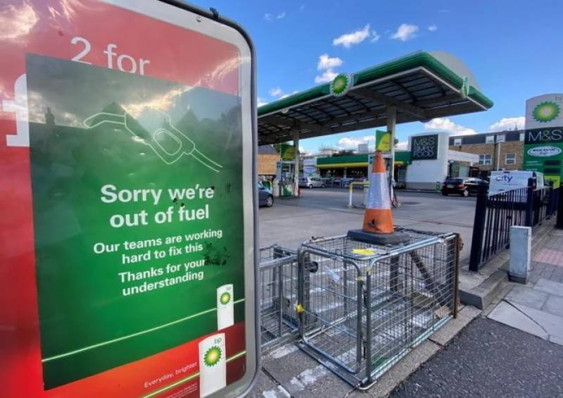 Britain puts army on standby as fuel supply crisis deepens amid panic buying