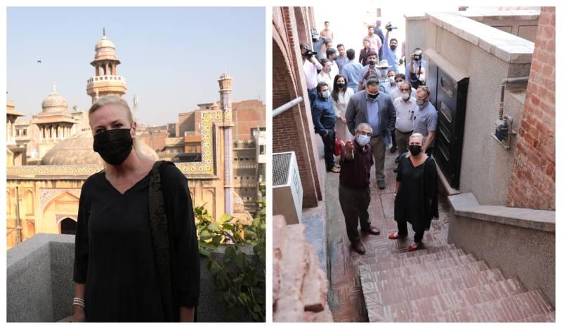 Chargé d'affaires visit to Wazir Khan Mosque highlights US efforts to restore cultural sites
