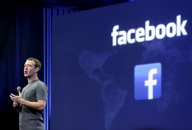 File photo of Facebook CEO Mark Zuckerberg during his keynote address at Facebook F8 in San Francisco, California March 25, 2015. REUTERS/Robert Galbraith
