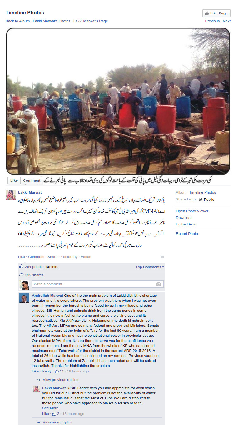 MNA posts comments on social media