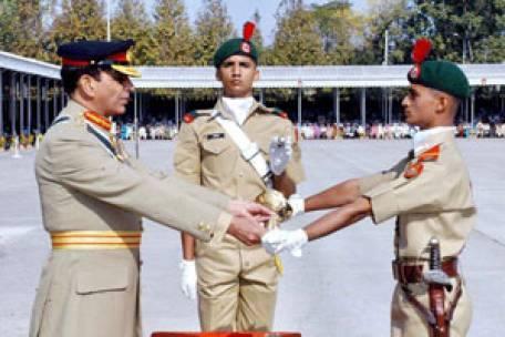 Captain Isfand Yar recieves Sword of Honor at PMA Passing Out Parade