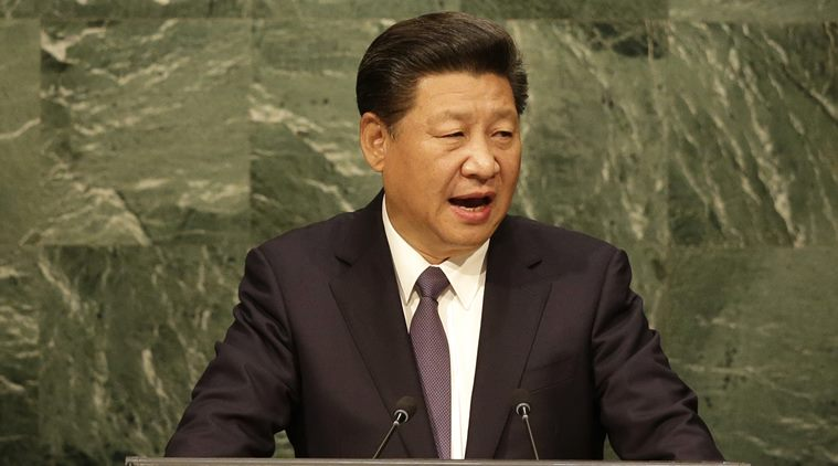 Chinese President Xi Jinping addresses the 2015 Sustainable Development Summit, Saturday, Sept. 26, 2015 at United Nations headquarters. (AP Photo/Seth Wenig)