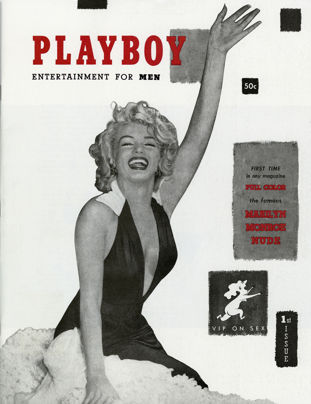 In an undated handout photo, Marilyn Monroe on the cover of Playboy magazine. As part of a redesign that will be unveiled in March 2016, Playboy will still feature women in provocative poses. But they will no longer be fully nude. (Playboy via The New York Times) -- NO SALES; FOR EDITORIAL USE ONLY WITH STORY SLUGGED PLAYBOY NO NUDITY BY RAVI SOMAIYA. ALL OTHER USE PROHIBITED. --
