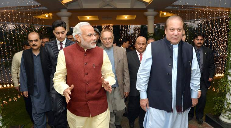 The Prime Minister, Shri Narendra Modi visits the Prime Minister of Pakistan, Mr. Nawaz Sharif's home in Raiwind, where his grand-daughter's wedding is being held, at Lahore, Pakistan on December 25, 2015.