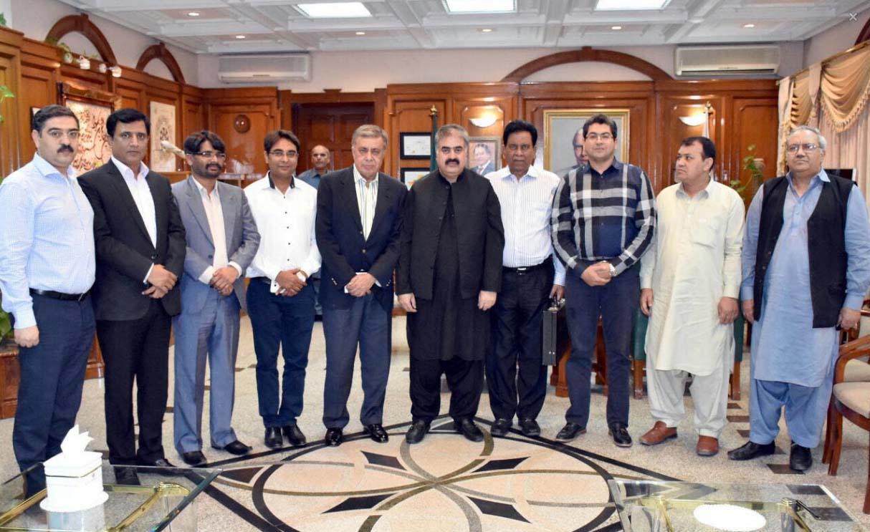 Chief Minister Nawab Sanaullah Zehri with senior media persons at CM Secretariat Quetta.