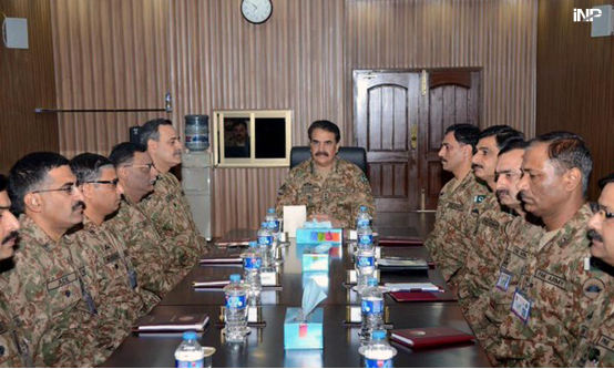 Chief of Army Staff General Raheel Sharif being briefed about security aspects of CPEC during his visit to newly raised Special Security Division for CPEC