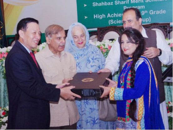 Addressing a function on Friday in connection with Chief Minister's Chinese Language Scholarship Programme, Shehbaz Sharif Merit Scholarship Programme and to honour other brilliant students, Yu Boren said that Shehbaz Sharif is a man of his word.