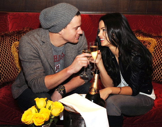 LAS VEGAS - FEBRUARY 06: Channing Tatum and Jenna Dewan attend Strip House restaurant at Planet Hollywood Casino Resort on February 6, 2010 in Las Vegas, Nevada. (Photo by Denise Truscello/WireImage)