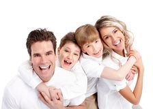 happy-family-father-mother-children-over-white-background-31666206