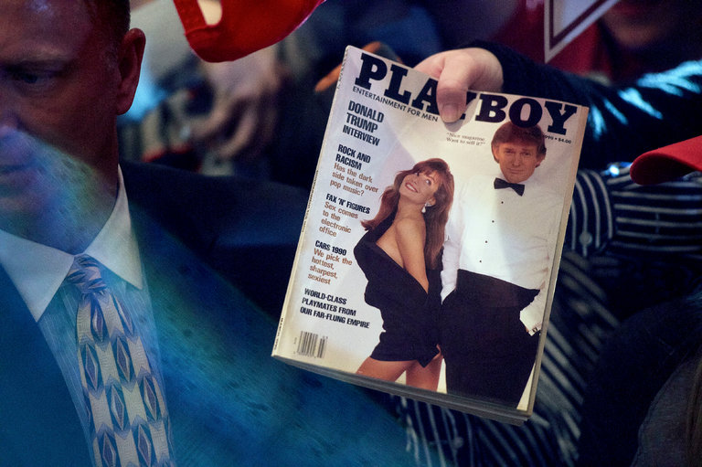 Mr. Donald Trump on Playboy's cover page.