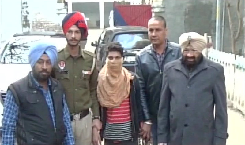 The accused in police custody.–ANI