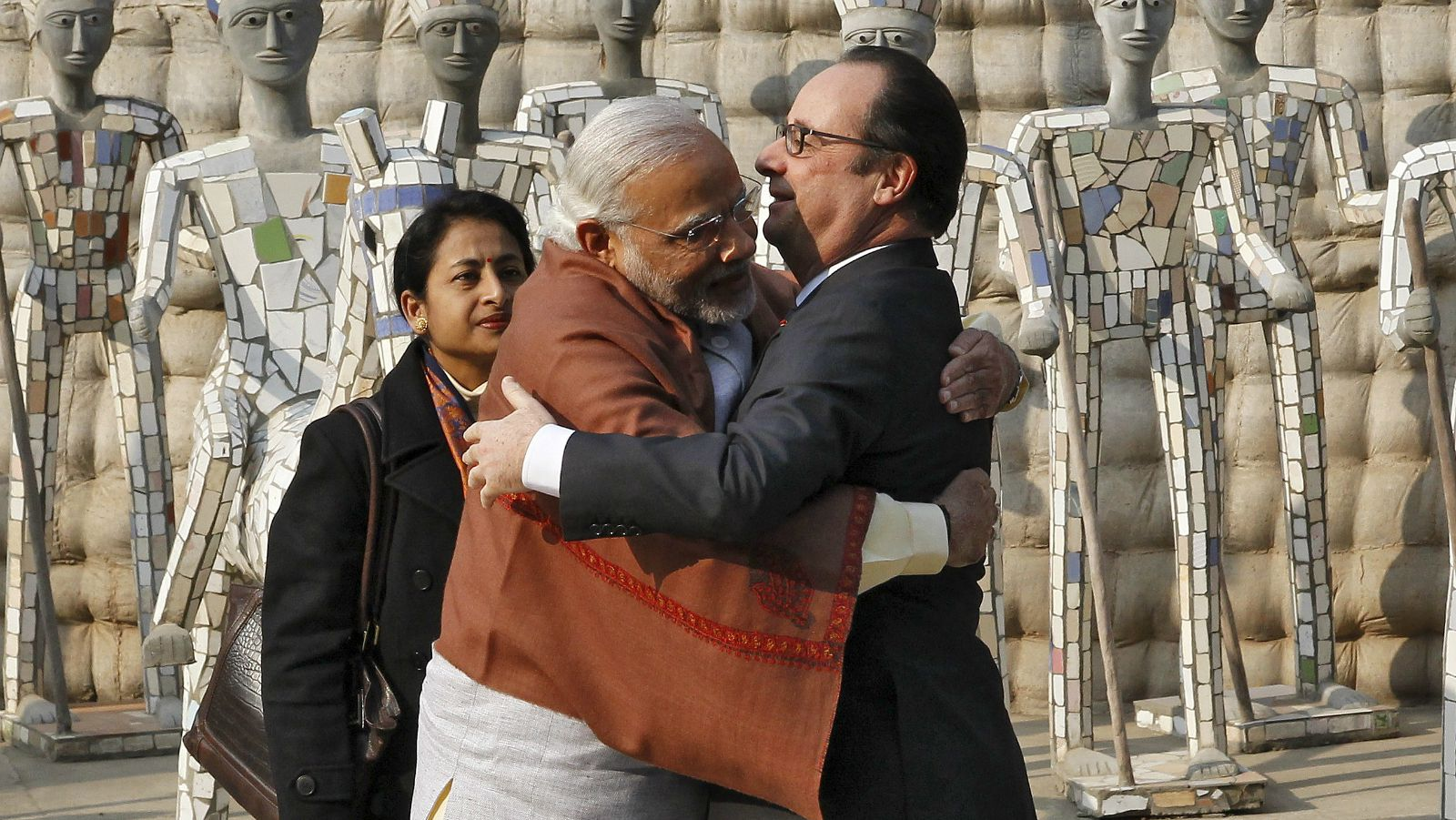 Narendra Modi with French President François Hollande.–File photo