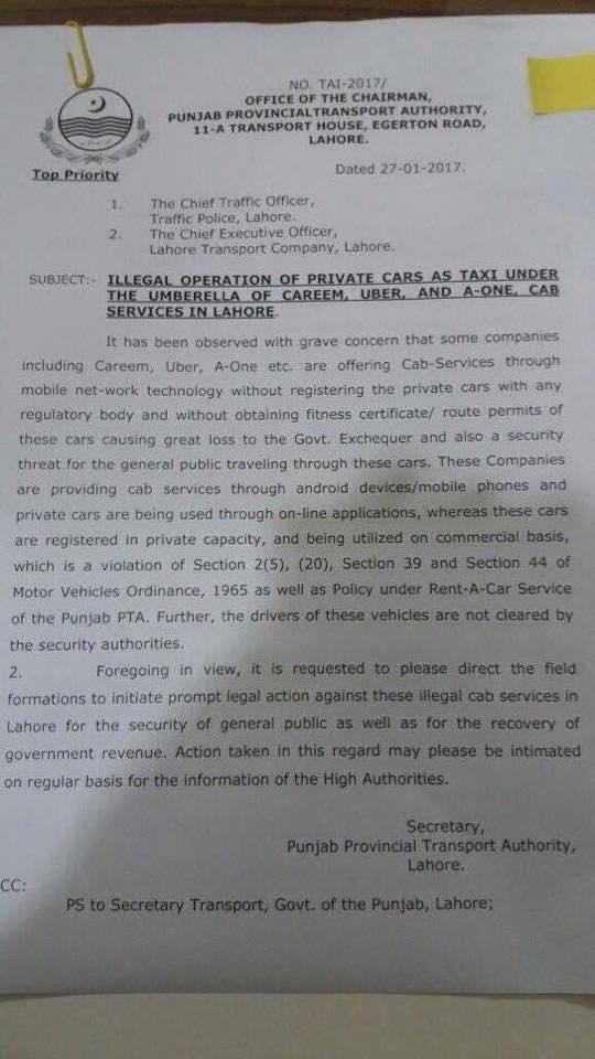 Punjab Govt's notification