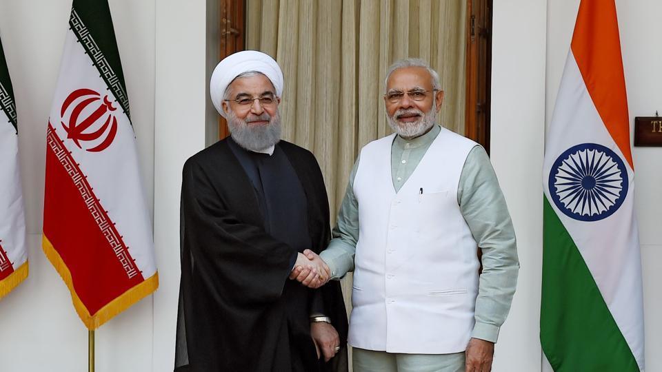 Rouhani and Modi meet in 2018